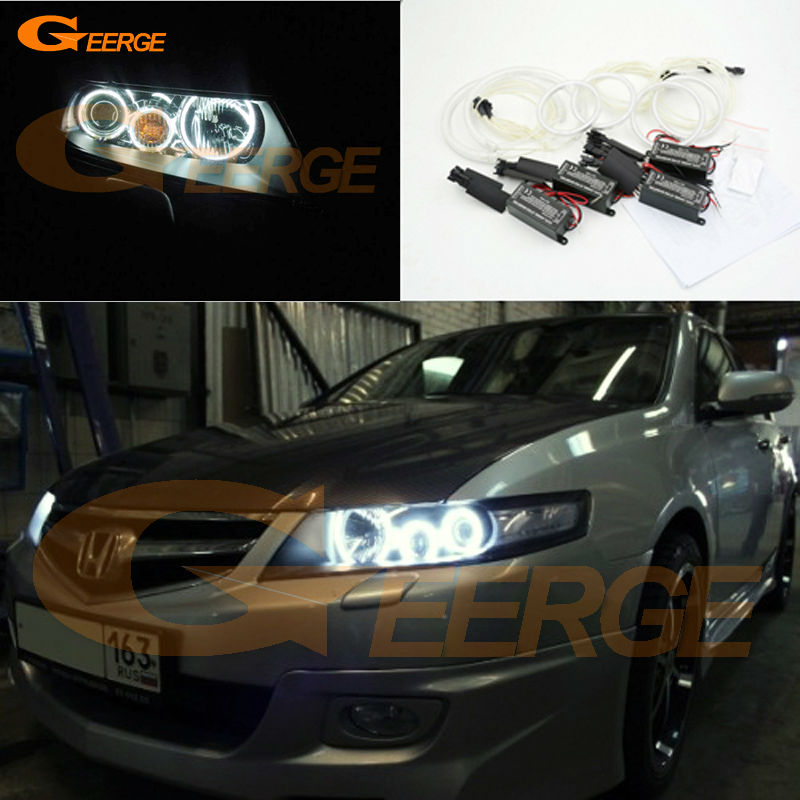 For honda accord CL7 2002 2003 2004 2005 2006 2007 Excellent Angel Eyes Ultra bright illumination CCFL angel eyes kit for cadillac cts 2003 2004 2005 2006 2007 excellent ccfl angel eyes kit ultrabright illumination ccfl angel eyes kit halo ring