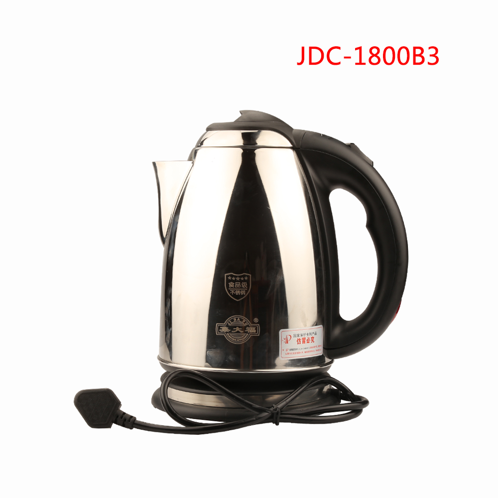 JDC 1800B3 Water Heater Kettle Electric Kettle Automatic Power Off Kettle Stainless Steel Electric Tea Stove 1.8L 1500W