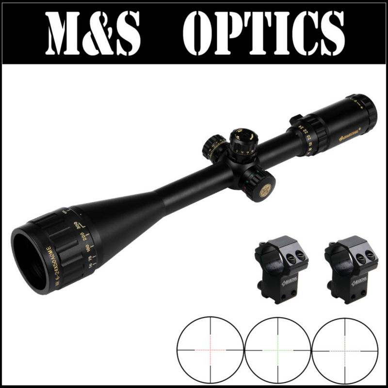 MARCOOL 6-24X50 Adjustable Hunting Green Red Dot Illuminated Tactical Riflescope Optical Sight Scope For Shotgun Riflescopes marcool 4 16x44 side focus front focal plane optical sights rifle scope hunting riflescopes for tactical gun scopes for adults