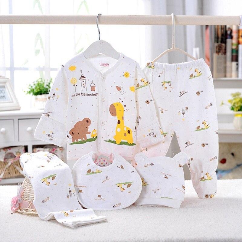 5pcs Set Newborn Gift Baby Clothing Set For 0 3M Brand Kids Boy Girl Clothes