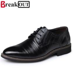 Break out new men oxfords for men dress shoes business genuine leather breathable men shoes lace.jpg 250x250
