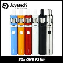 ต้นฉบับJoyetech eGoหนึ่งV2ชุดอิเล็กทรอนิกส์บุหรี่กับ2มิลลิลิตรเครื่องฉีดน้ำvs1500mAh/2200มิลลิแอมป์ชั่วโมงแบตเตอรี่อาตมาหนึ่งv2 Vaporizerปากกา