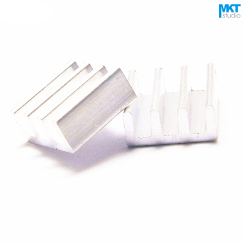 100Pcs 11mmx11mmx5mm Pure Aluminum Cooling Fin Radiator Heat Sink