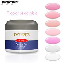 Yayoge 56ml 7 kleuren heldere vernis hars bouwer gel set nagel kunst nagels polish voor UV led klomp verlenging