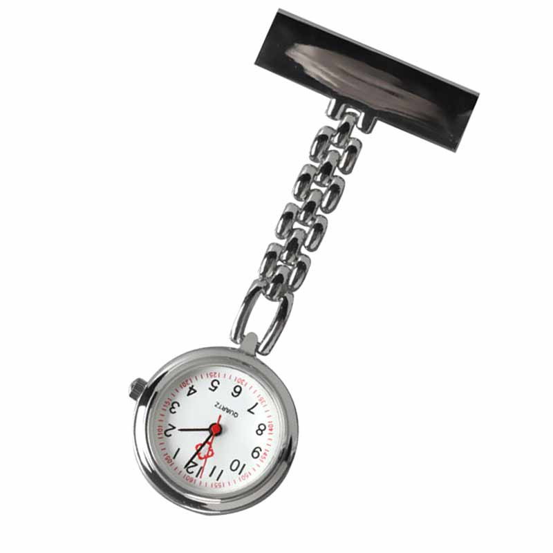 Hot Fashion Nurse Table Pocket Watch with Clip Brooch Chain Quartz Mini Watches TT@88