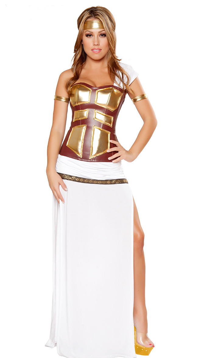 deluxe greek goddess costume fancy ladies egyptian halloween costume 3s1459 free shipping hot sale sexy costumes - Halloween Costumes Prices