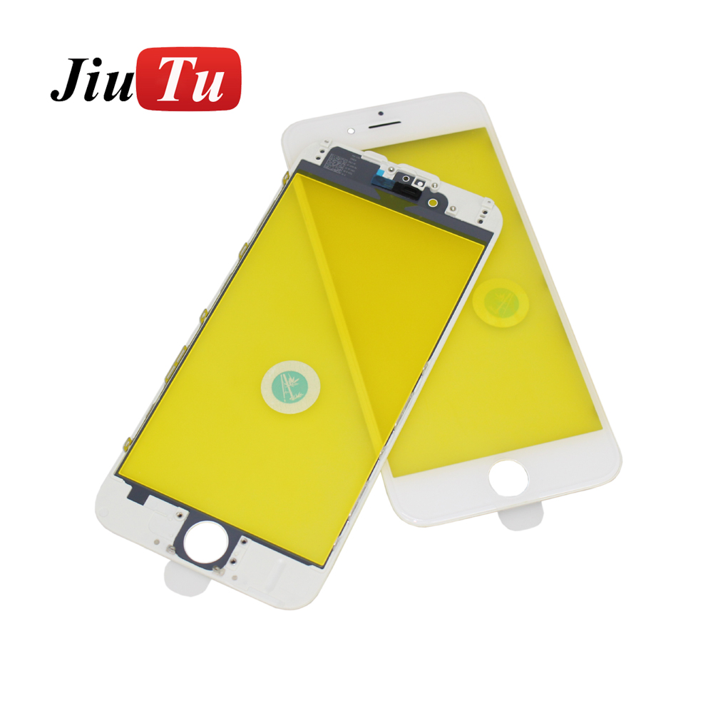 Jiutu 10pcslot Glass With Bezel Frame Cold Press For iPhone 6G6 Plus 6S6S Plus (2)