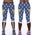 Wonder Woman Yoga Pants Gold Star Fitness Jogging Leggings Wonder Woman Sports Tights Red Blue Compression Trousers Hot