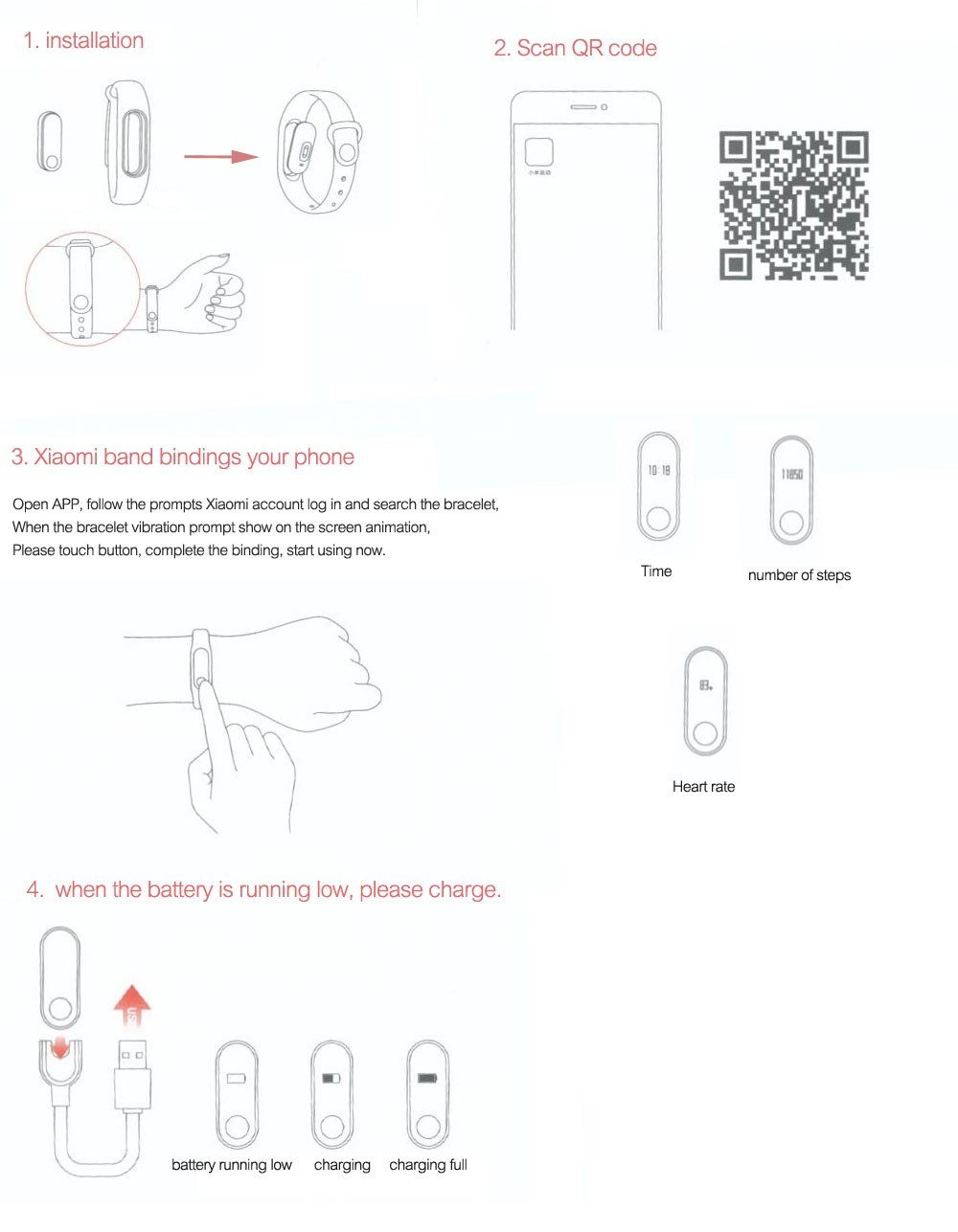 original xiaomi mi band 2 smart wristband heart rate monitor with oled touchpad fitness bracelet