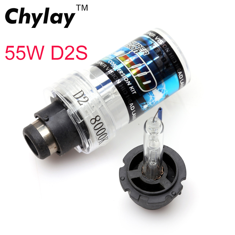 2pcs 55W D2S bulb HID Xenon lamp light Replacement Bulb for Car Headlight Lighting 55W 4300K  6000k 8000k  12V replacement d2c 35w 3000lm 6000k white light hid xenon lamp bulb headlight for car 2 pcs