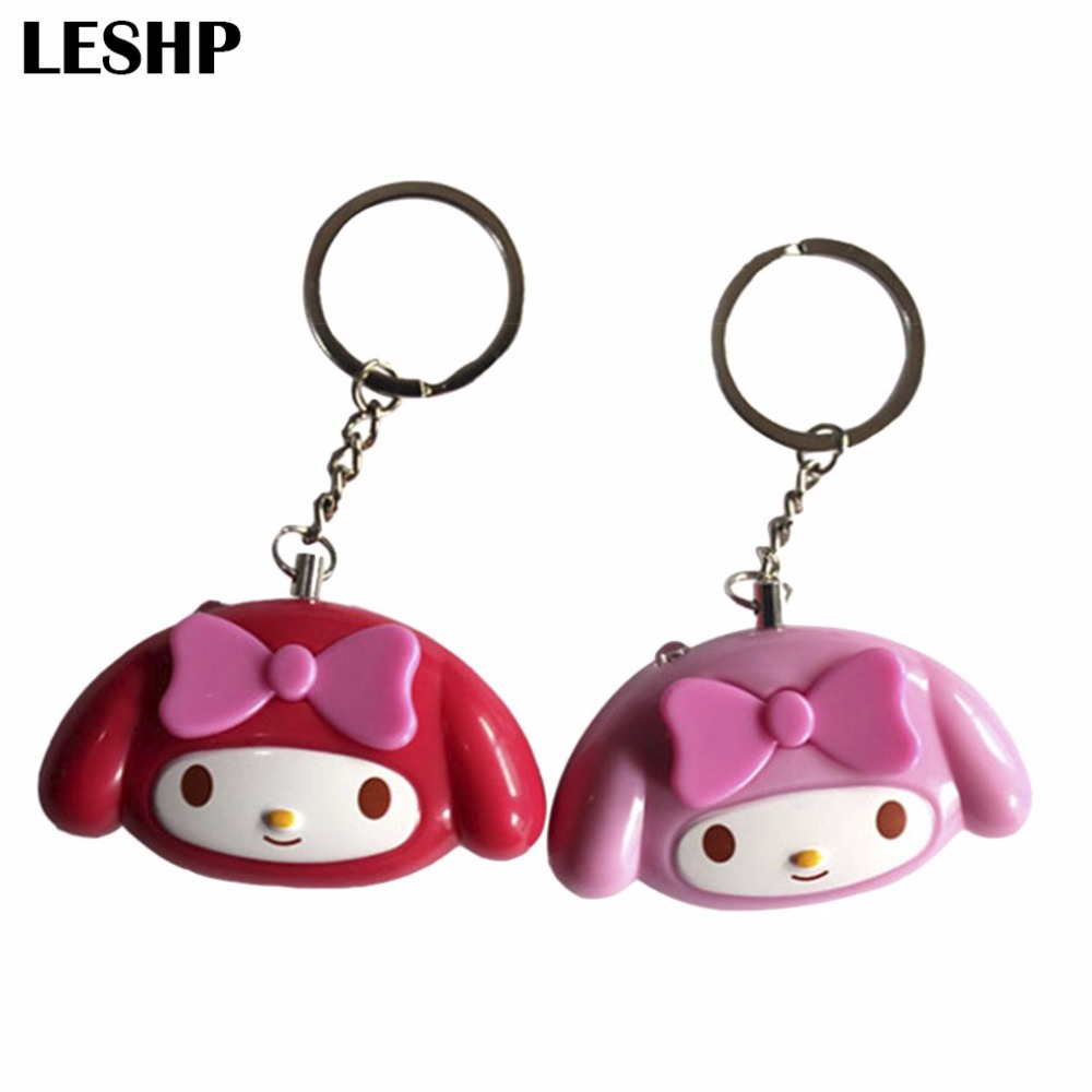 Cute Mini Self Defense Keychain Alarm Super Loud Personal Security Alarm Anti-Attack Emergency Alarm Keyring For Women Kids mini motorcycle helmet keychain cute keyring