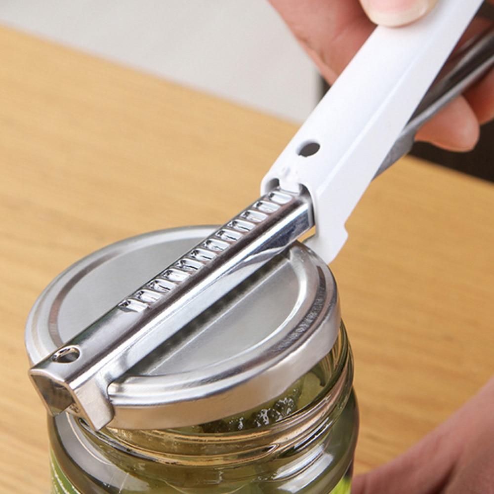 Adjustable Stainless Steel Jar Openers Anti-hand Sliding Quick Bottle Opener Multifunctional Cover Opener Kitchen Gadgets