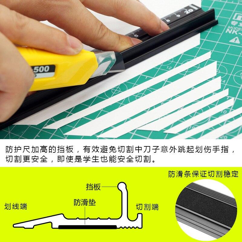 Advanced Aluminum Alloy Ruler, Multifunctional Student Cutting Protection Art Anti Slip Drawing Tool #5