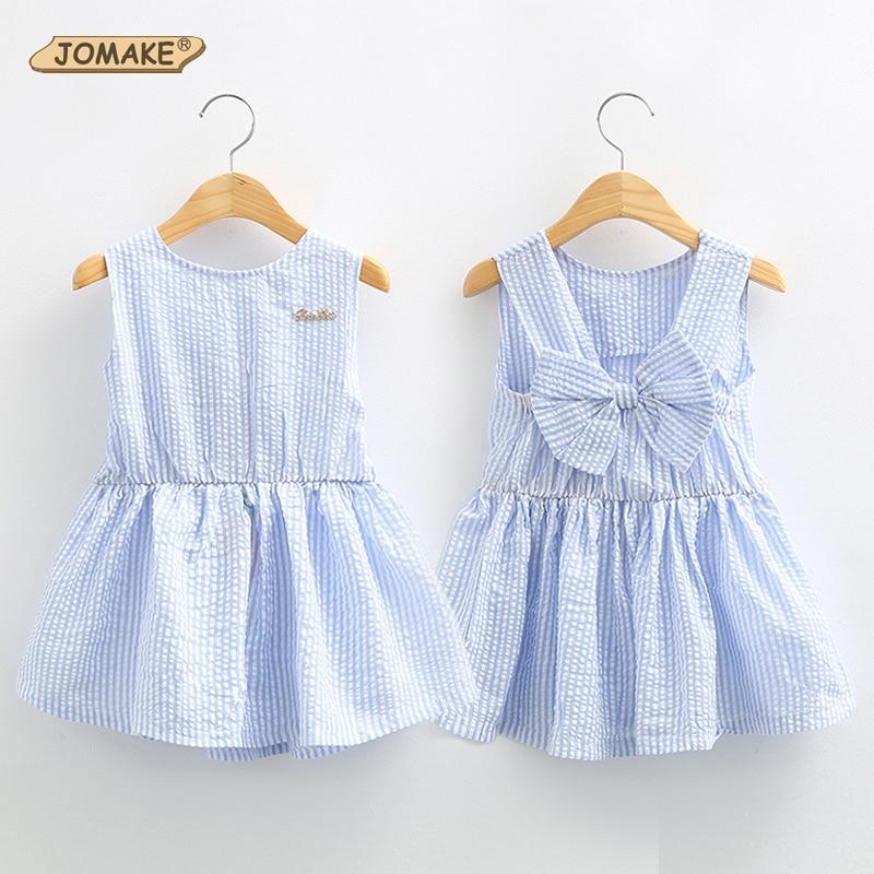 Classic Plaid Baby Girls Dresses Summer 2018 Sleeveless