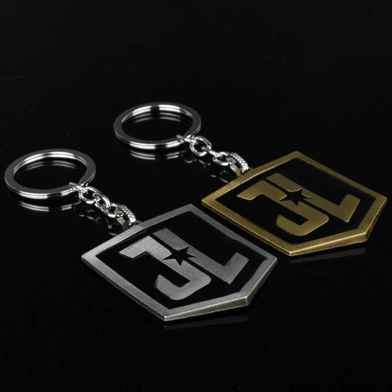 Dongsheng Mới Nhất Movie Trang Sức Justice League JL Logo Keychain Đàn Ông Phụ Nữ Key Ring Chủ Chaveiro Móc Chìa Khóa Xe Mặt Dây Chuyền-50