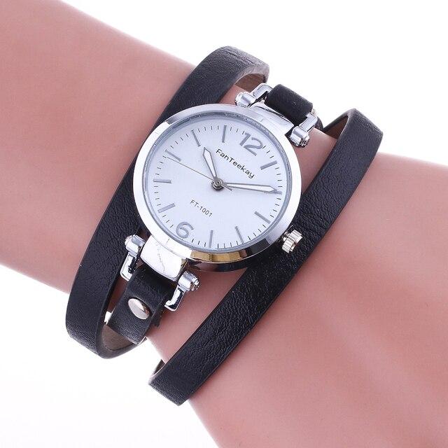 Hot Selling Brand Fashion Luxury Leather Bracelet Watch Ladies Quartz Watch Casu
