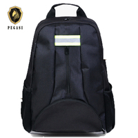 PEGASI Oxford Tool Pouch Fabric Backpack Multi-function Outdoor Backpack Electricians Tool Bag Black Durable Toolbag