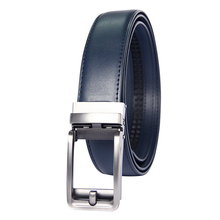 Famous Brand Belt Men Top Quality Genuine Luxury Leather Belts for Strap Male Metal Blue Automatic Buckle