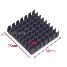 Радиатор 28*28*6 ММ (черный слот) высокое качество радиатора