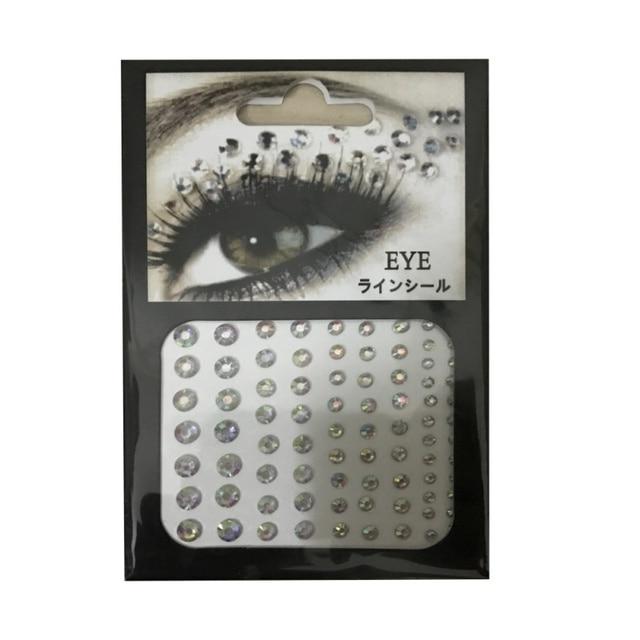 Bridal Party Make Jewel Ogen Make Kristal Ogen Sticker Tattoo Eyeliner Diamond Glitter Make Sticker