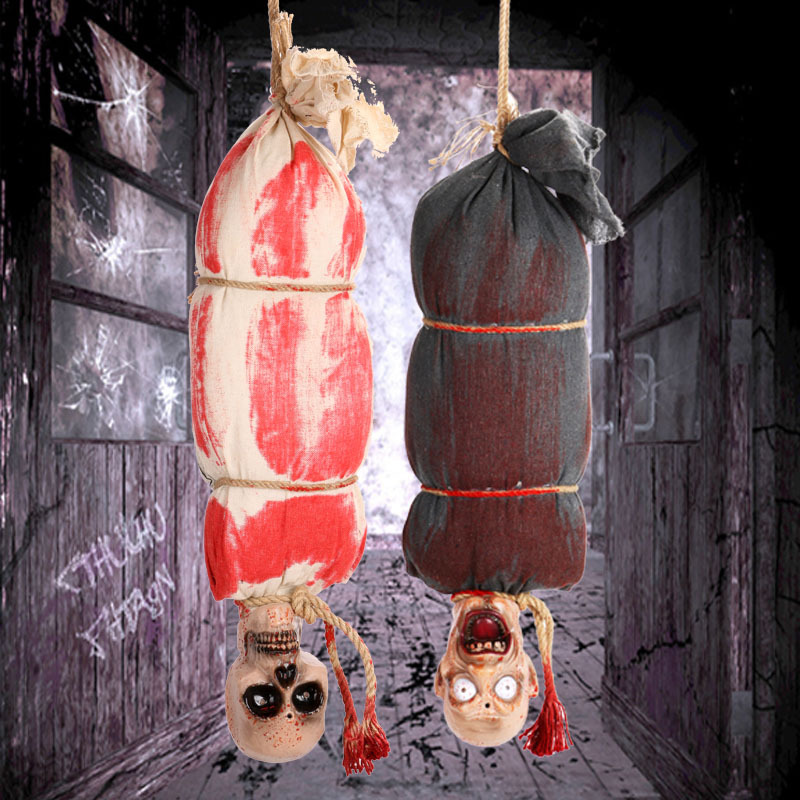 TOY Halloween Decoration Scary Bloody Prank Toy Nail Through Head Horror Halloween Props April Fools Day Cosplay