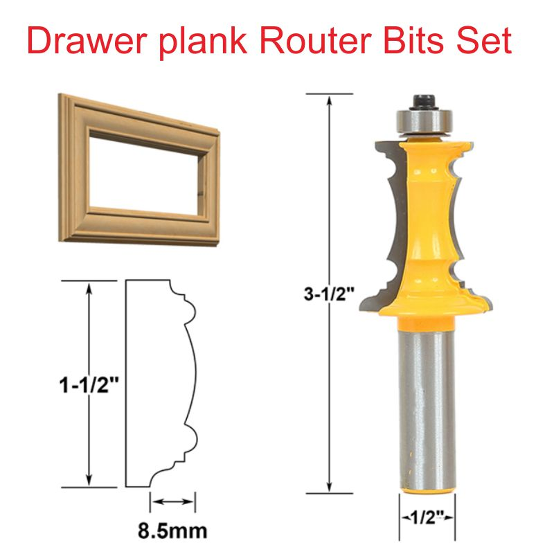1 2 1 1 2 Wood Woodworking Cutter Drawer Plank Router Bits Set Drawer lace font