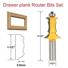 1/2*1-1/2 Wood Woodworking Cutter Drawer Plank Router Bits Set Drawer lace knife