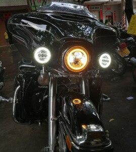 "Image 5 - 4.5 ""30 W LED ערפל עובר מנורת עזר נהיגה אור הר סוגר דלי להארלי FLSTC אלקטרה Glide Ultra כביש מלך"