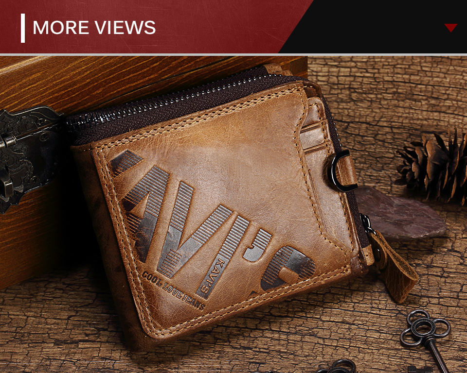 HTB1Za2Pq8USMeJjy1zjq6A0dXXaA - KAVIS Crazy Horse Genuine Leather Wallet Men Coin Purse Male Cuzdan Walet Portomonee PORTFOLIO  Perse Small Pocket money bag