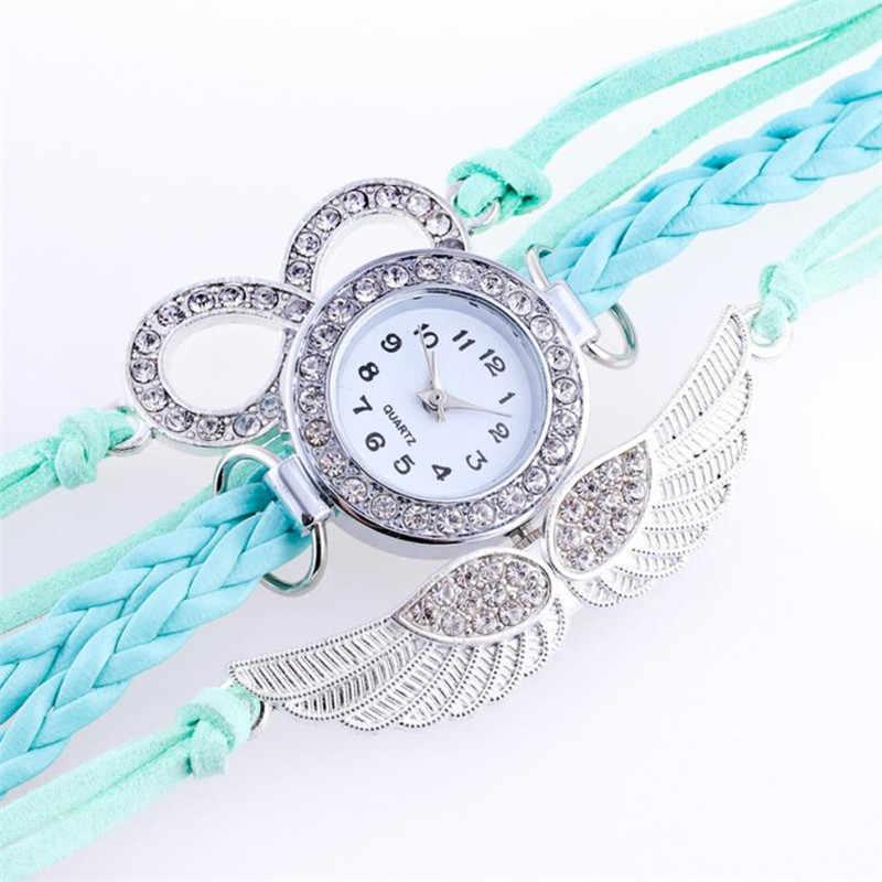 חדש אופנה נשים שעונים אגף מעוטפות צמיד שעונים עור סינטטי שרשרת שעונים relogio masculino Dropshipping 35