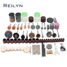 Купить с кэшбэком Grinding Tools suit 147 pcs grinding bits kit cutting/abrasing/polishing bits abrasives kit  for grinder or rotary tools