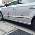 Para Audi A3 8 V Inoxidável Porta Lateral Do Corpo Molding Guarnição Da Tampa 4 pcs 2014-2015