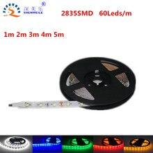 1 м 5 м 60les/m Ultra Яркий Светодиодные ленты свет Smd2835 5050 12 В DC Светодиодный свет Reel 2835 диод Клейкие ленты Светодиодные ленты свет ленты гибкие