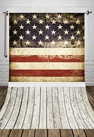 5x7ft USA Flag PATRIO Photographic Background Photography Backdrops for Children Baby Family White Floor