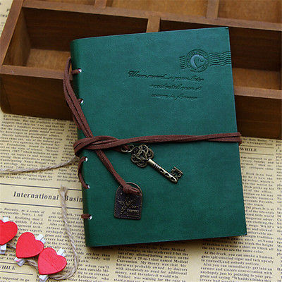 Vintage Notebook Leather Cover Journal Diary Blank String Nautical Traveler book office school supplies 2016 newest vintage magic key string retro leather note book diary notebook leaf leather cover blank notebook journal diary