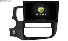 10.2 inç BÜYÜK Ekran Android 6.0 Araba DVD Oynatıcı Ses Için MITSUBISHI Outlander GPS Bluetooth Radyo cihazı stereo WIFI sürüm
