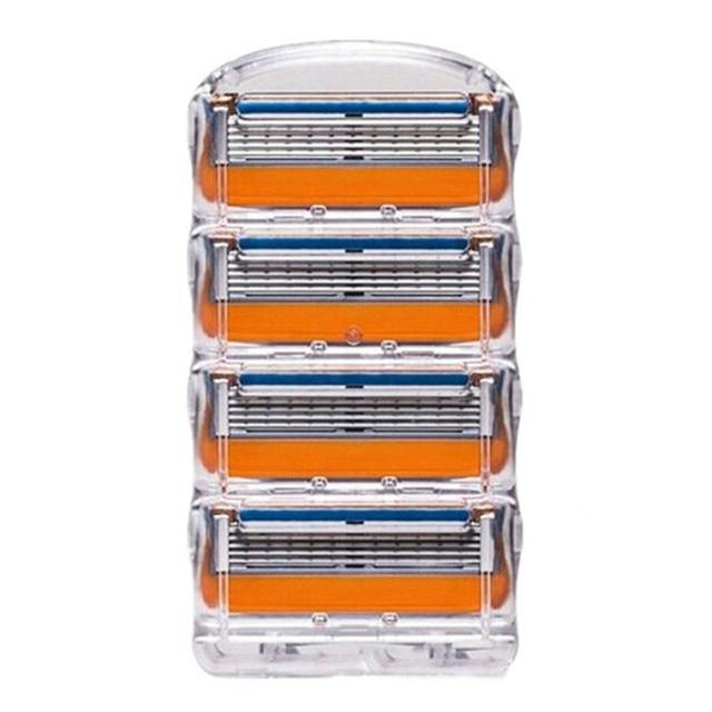 4 шт./лот, высокое качество Уход за лицом бритья Бритвы лезвия для Для мужчин 5 лезвий для бритья станок для бритья лезвия триммер для бороды