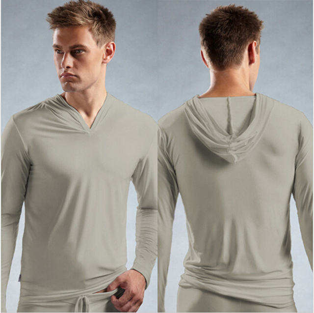 Hot 1pcs Mens Sleep Tops Long Sleeve Sheer Sexy Clothes Coat Tight Night Wear Bar Suits Fashion Shirts Gay Ropa Hombre