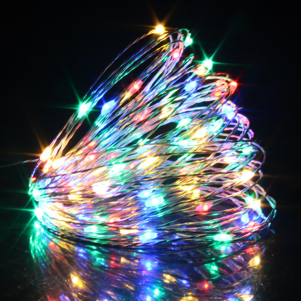 300CM Multicolor Copper Wire Mini LED String Lights Battery Operated ...
