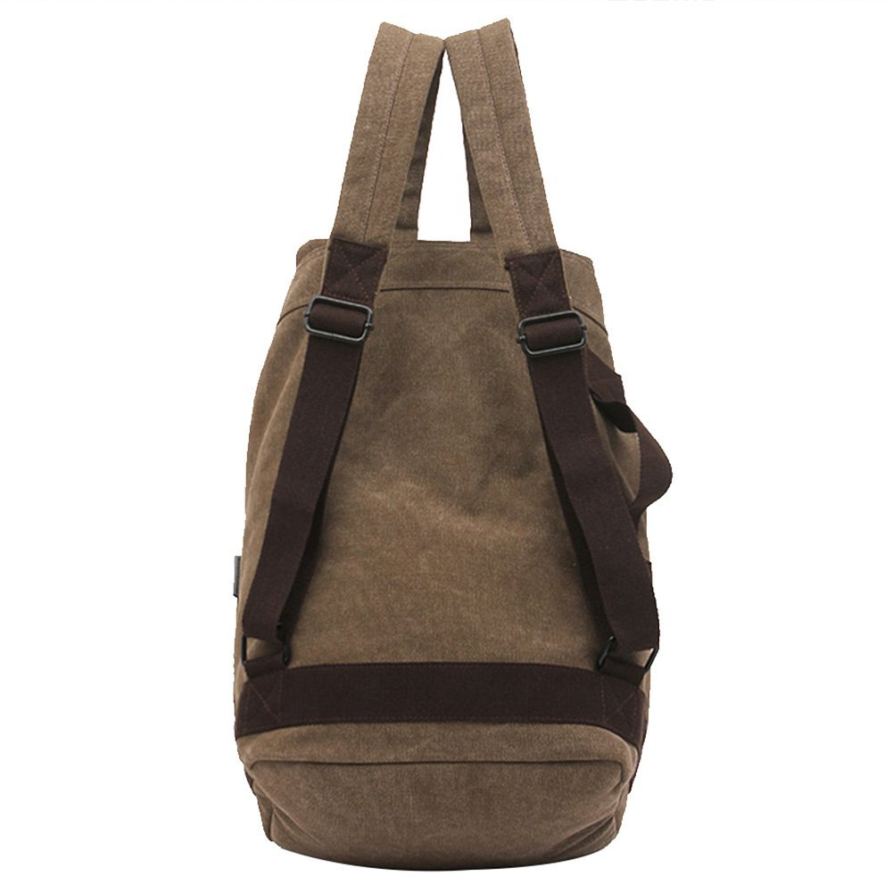 brown Men's Bags Luggage & Bags Latest Collection Of Manjianghong Backpack Man And Woman Backpacks Leather Canvas Shoulder Bag Women Backpack