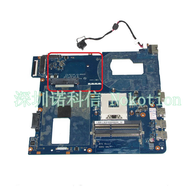 NOKOTION BA59-03539A BA59-03539B QCLA4 LA-8862P for samsung NP350V5C NP350 Laptop motherboard HM76 Intel HD GMA graphics DDR3 fit for samsung np350 np350v5c 350v5x laptop motherboard qcla4 la 8861p ba59 03541a ba59 03397a ddr3 hd 7600m gpu 100