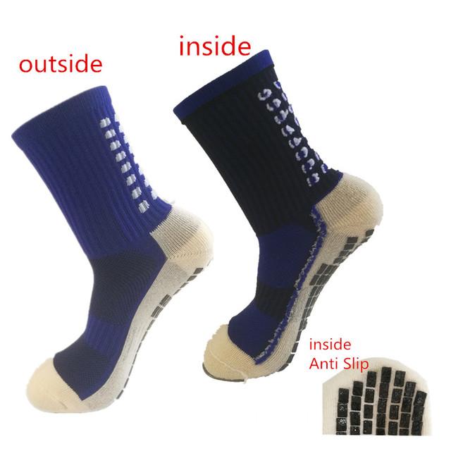 Anti Slip Soccer Socks Cotton Cycling Football Men Sport Socks Calcetines Double-Sided Non-Slip