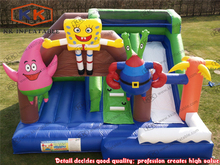 kids Bouncer Combo Inflatable Cartoon Bouncy Castle With Slide