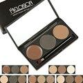 Meloision cejas paleta de polvo herramientas de belleza de maquillaje en polvo ceja impermeable con espejo ceja cepillos cosméticos 1 unids