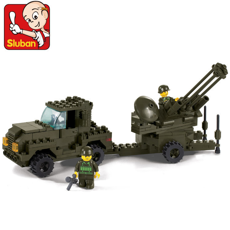 Sluban model building kits compatible with lego city army 592 3D blocks Educational model & building toys hobbies for children