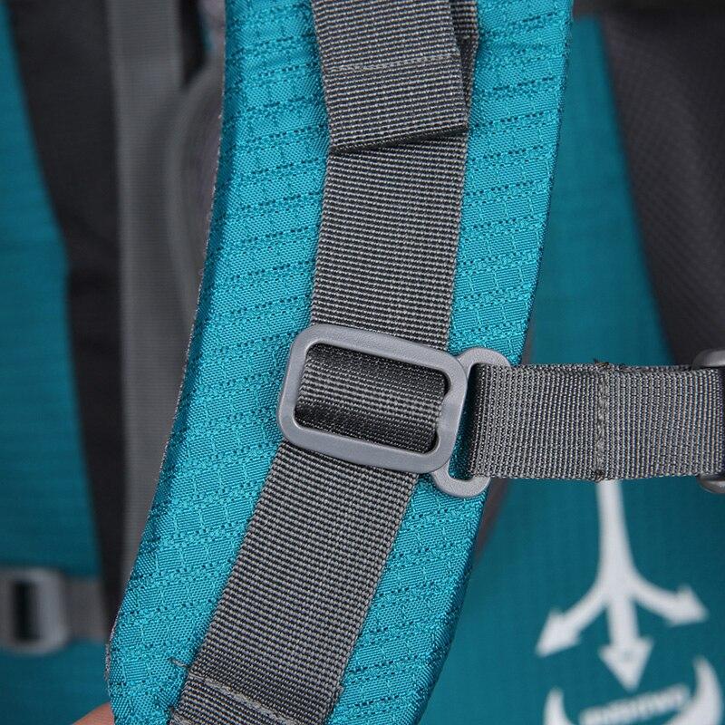 80L Camping mochilas senderismo grande al aire libre mochila bolsa de Nylon superligero deporte bolsa de viaje de aleación de aluminio de soporte 1,65 kg - 5