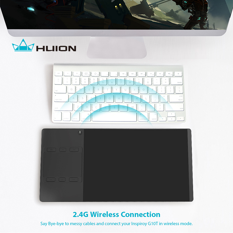 Huion INSPIROY G10T New Digital Tablet Wireless Graphic Drawing Tablet Pen and Finger Touch Tablet With a Drawing Glove Gift