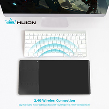 Promo offer Huion INSPIROY G10T New Digital Tablet Wireless Graphic Drawing Tablet Pen and Finger Touch Tablet With a Drawing Glove Gift