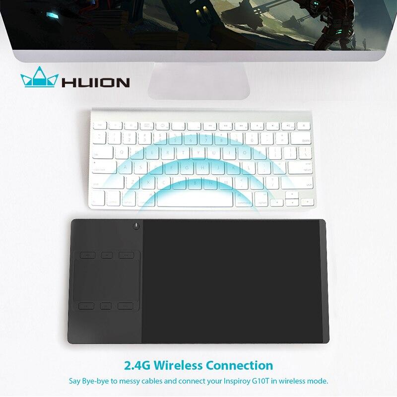 Huion INSPIROY G10T Nouvelle Tablette Numérique Sans Fil Graphique Dessin Tablet Pen et Doigt Tactile Tablet Avec un Dessin Gant Cadeau