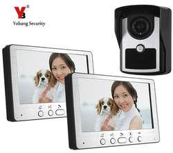 """Yobang безопасности 7 """"Видеодомофоны запись Системы телефон двери квартиры Системы Водонепроницаемый Камера с дождевик для охранных"""